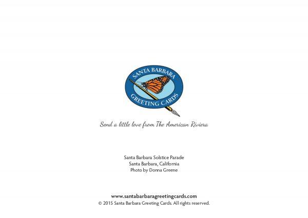 Santa Barbara Summer Solstice Parade - Greeting Card - Love from
