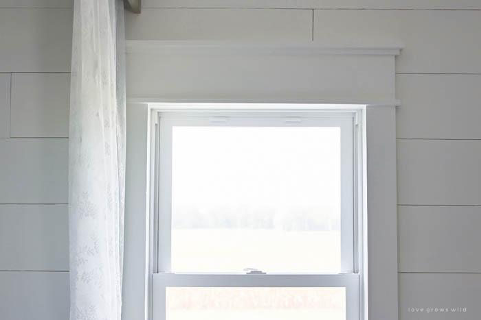 Farmhouse Window Trim Love Grows Wild