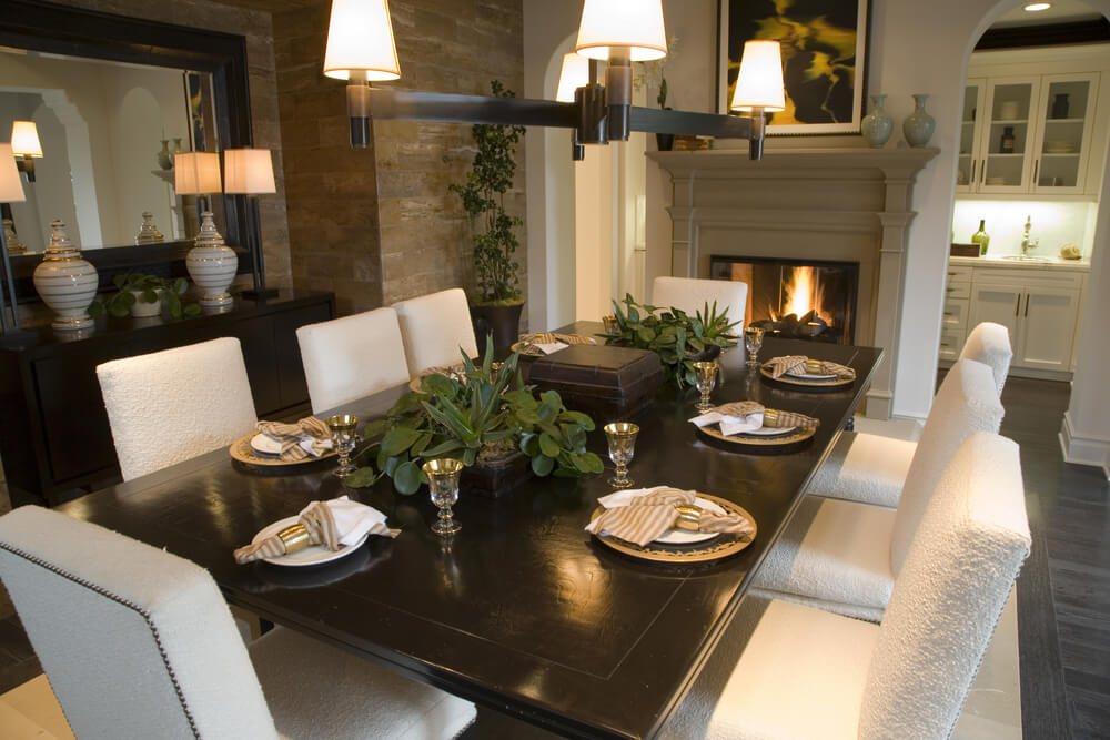 57 Inspirational Dining Room Ideas (Pictures) - Love Home Designs - kitchen table decorating ideas