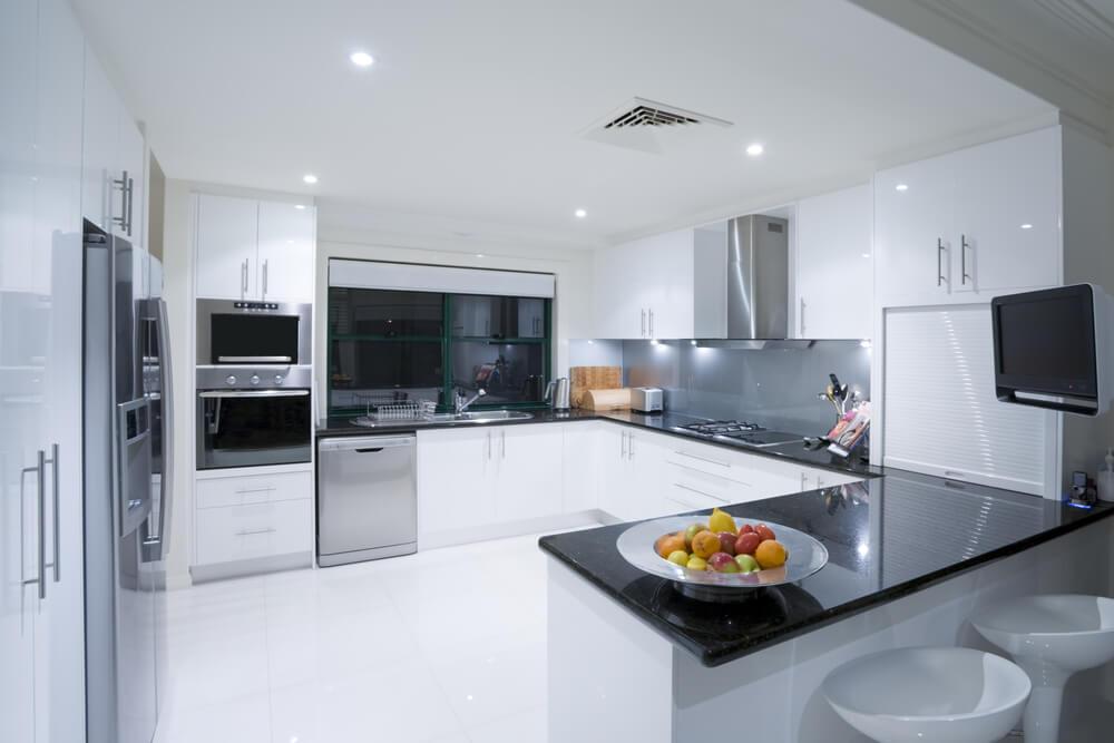 41 U-Shaped Kitchen Designs - Love Home Designs - u shaped kitchen design
