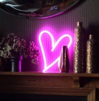 Pink Heart LED Neon light  Love Inc