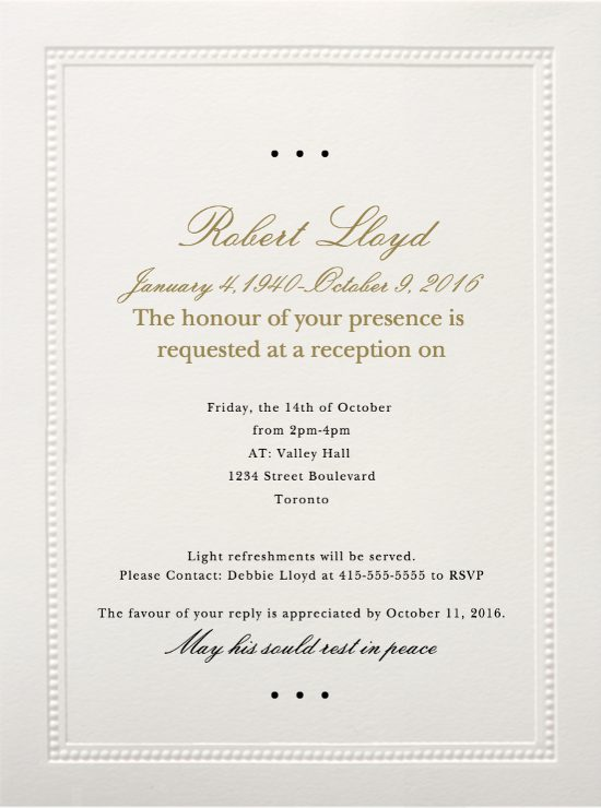 Formal Invitation Letter In Marathi 39 Best Funeral Reception Invitations | Love Lives On