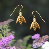 Honey Bee Drop Earrings | Lovell Designs Jewelry in Maine