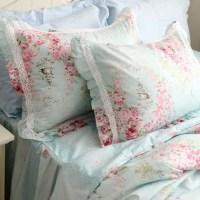 blue rose pillow sham