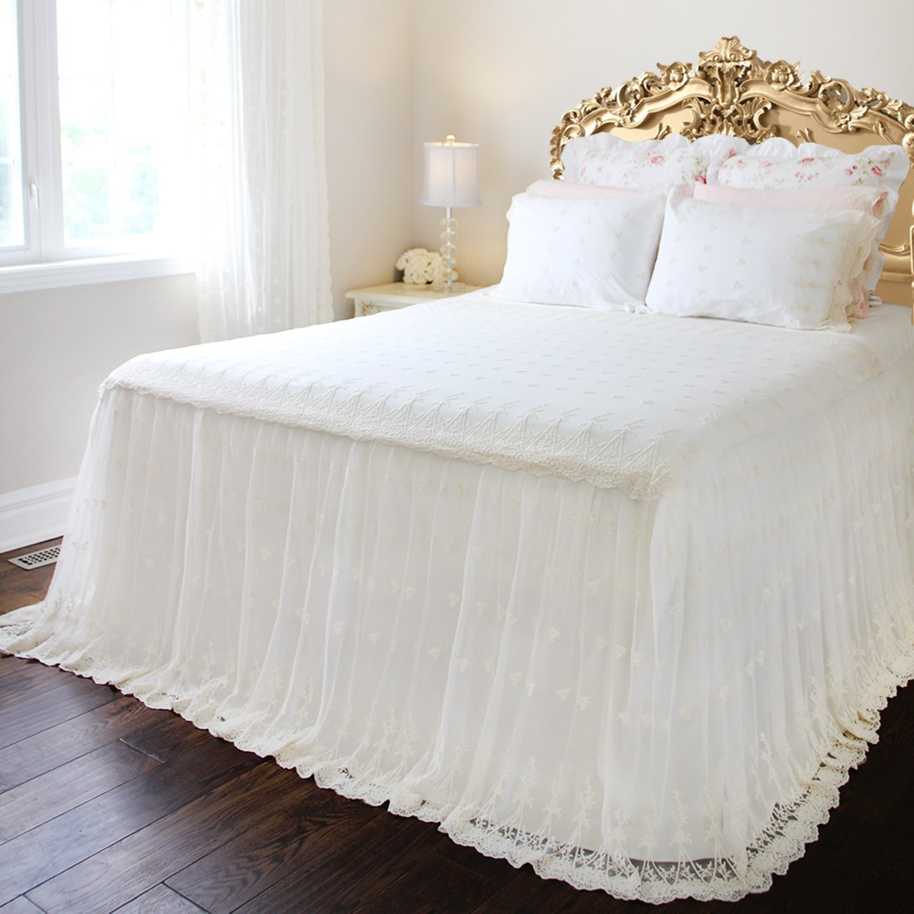 Bed Coverlet Lace Love Bedspread Coverlet