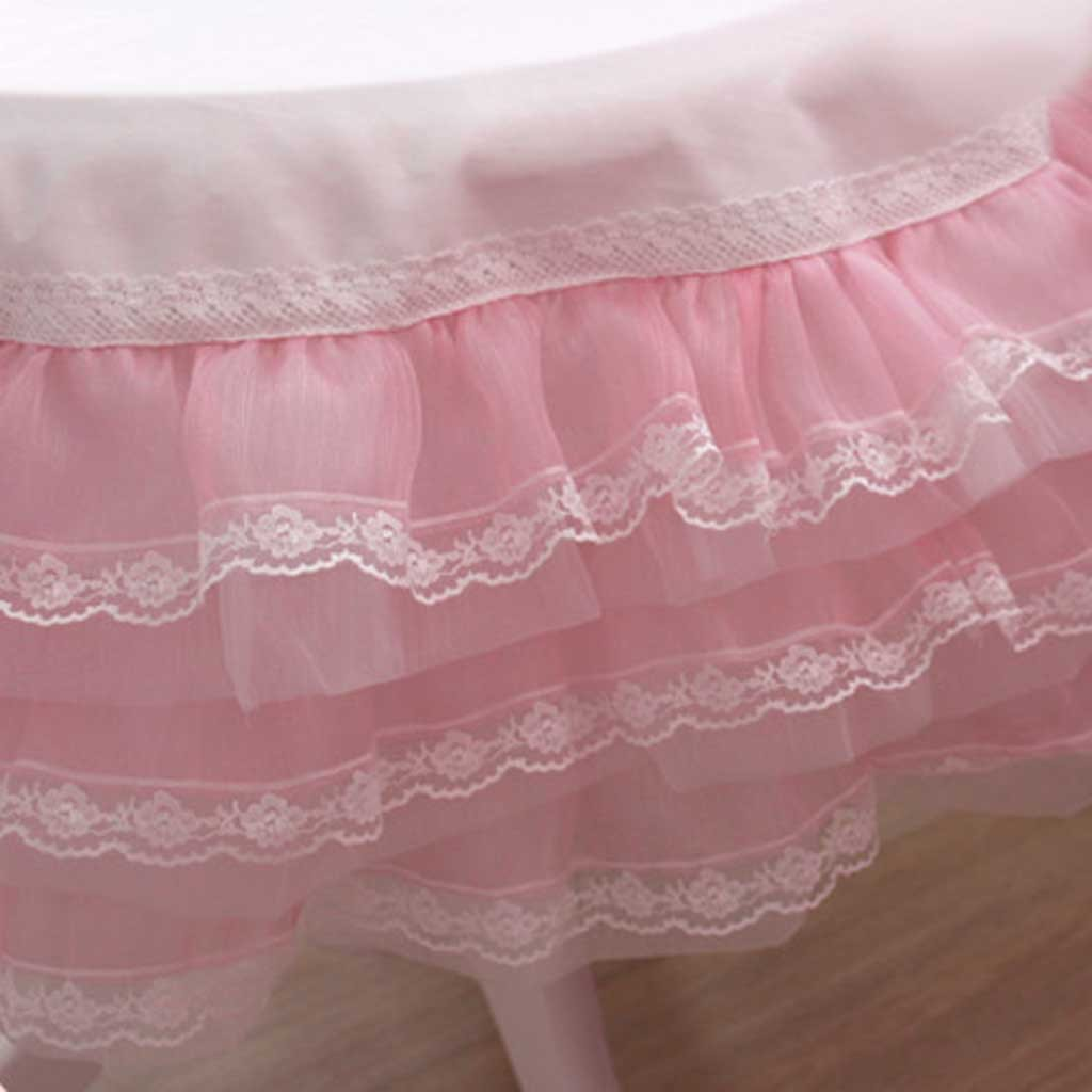Kids Table Chair Pink Organza Ruffle Lace Tablecloth 2' X 2' - Custom Made