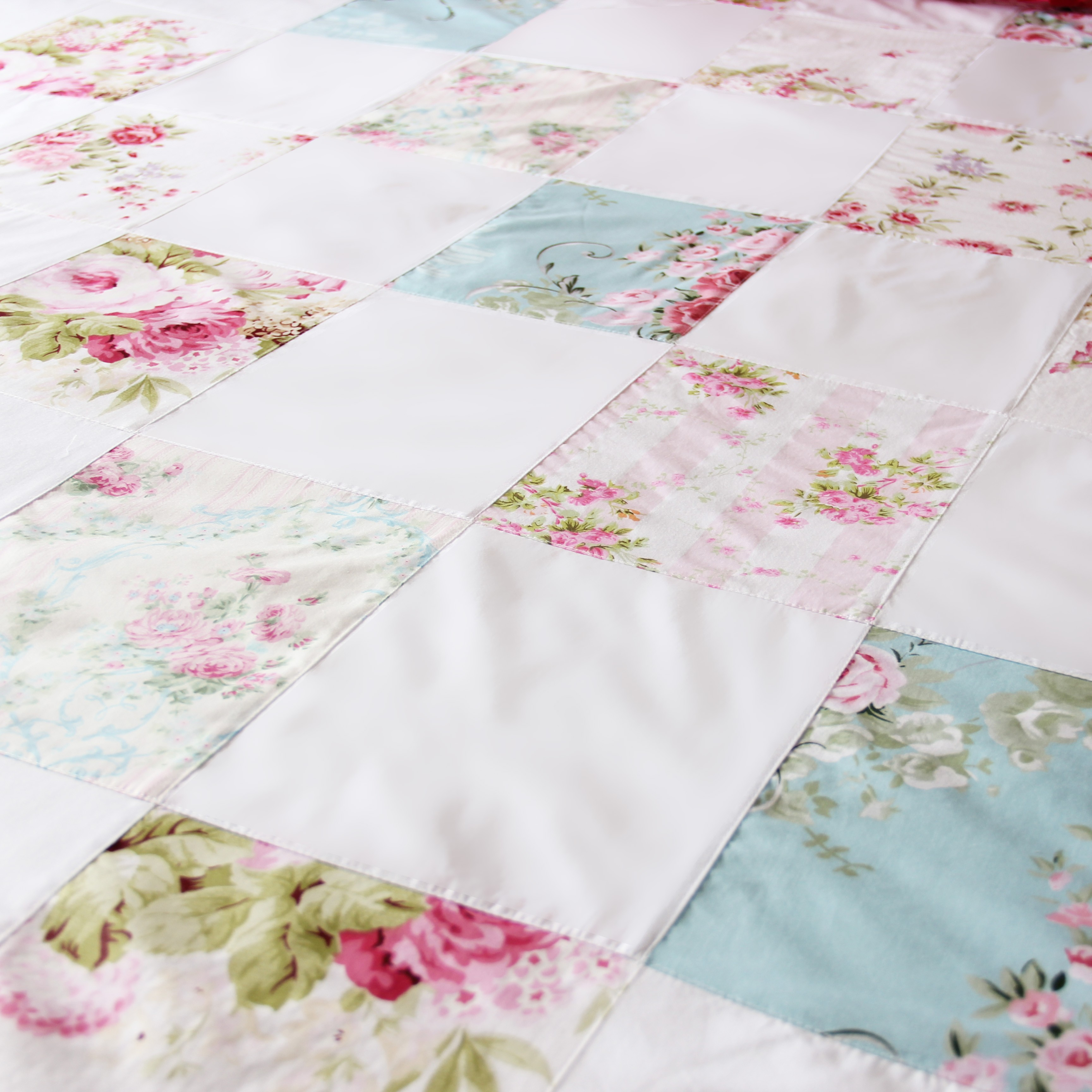 Shabby Chic Rose Floral Patchwork Shabby Chic Duvet Cover