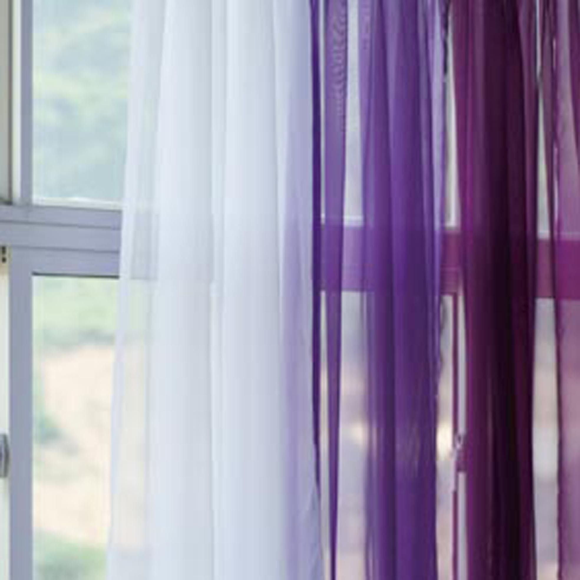 Lavender Sheer Curtains Grape Lavender Gradient Panel Set