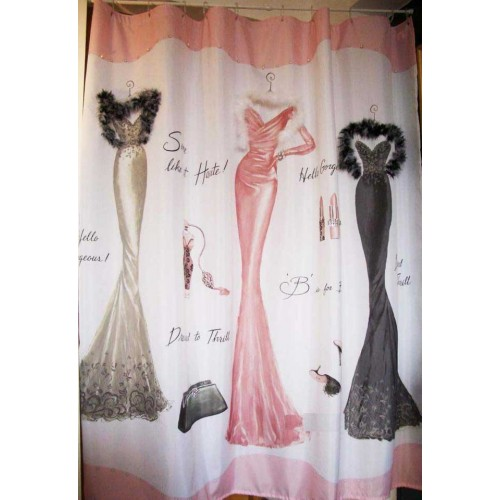 Party Chic Dressed To Thrill Shower Curtain