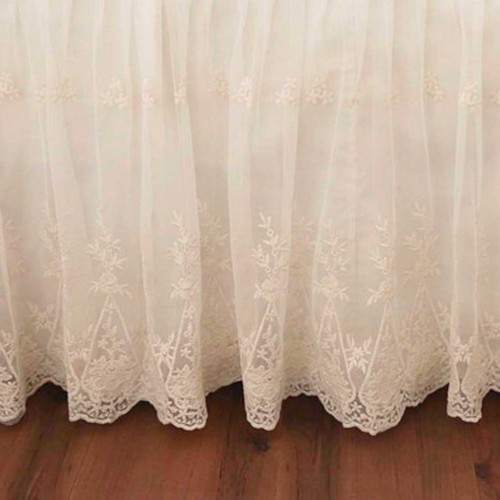 Living Room Decor Pillows Lace Bed Skirt