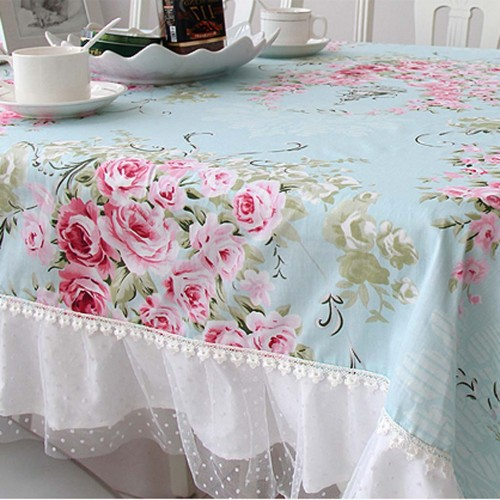 Living Room Decor Pillows Shabby Chic Tablecloth