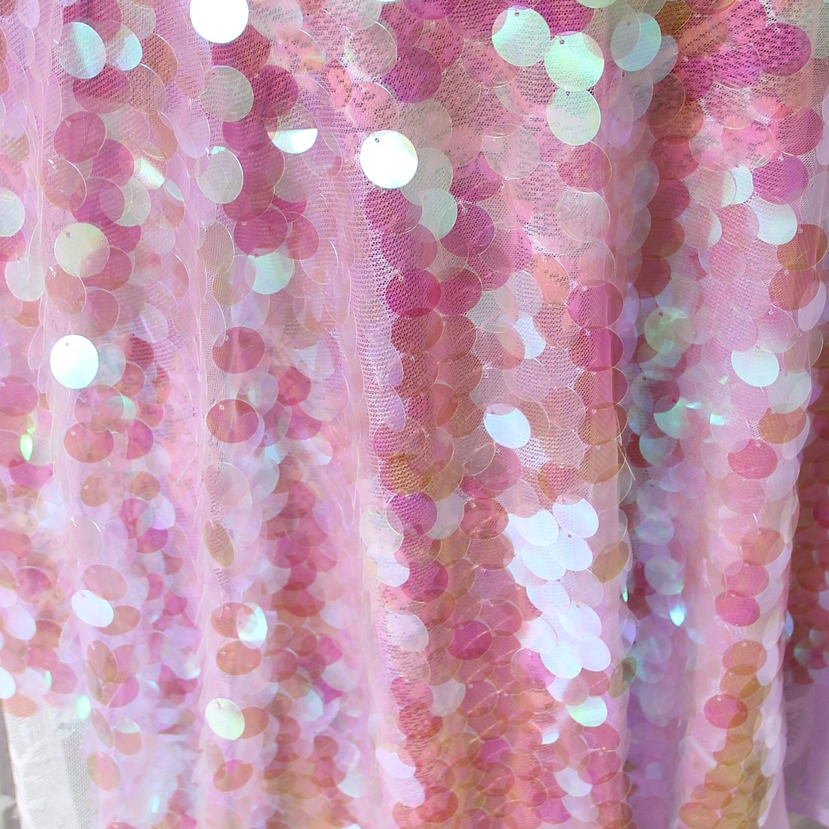 Pink Sequin Curtains Purple Blink Iridescent Holographic Sequin Fabric