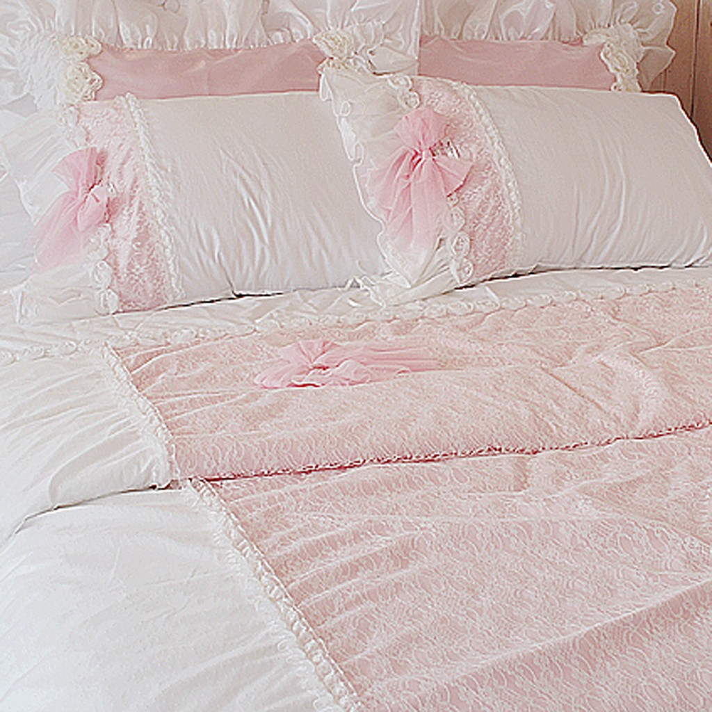 Pink Duvet Cover Frances Lace Duvet Cover Set