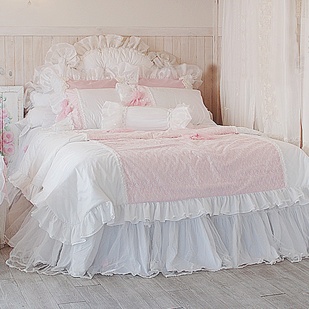 Pretty Bed Covers Pink Bedding Set