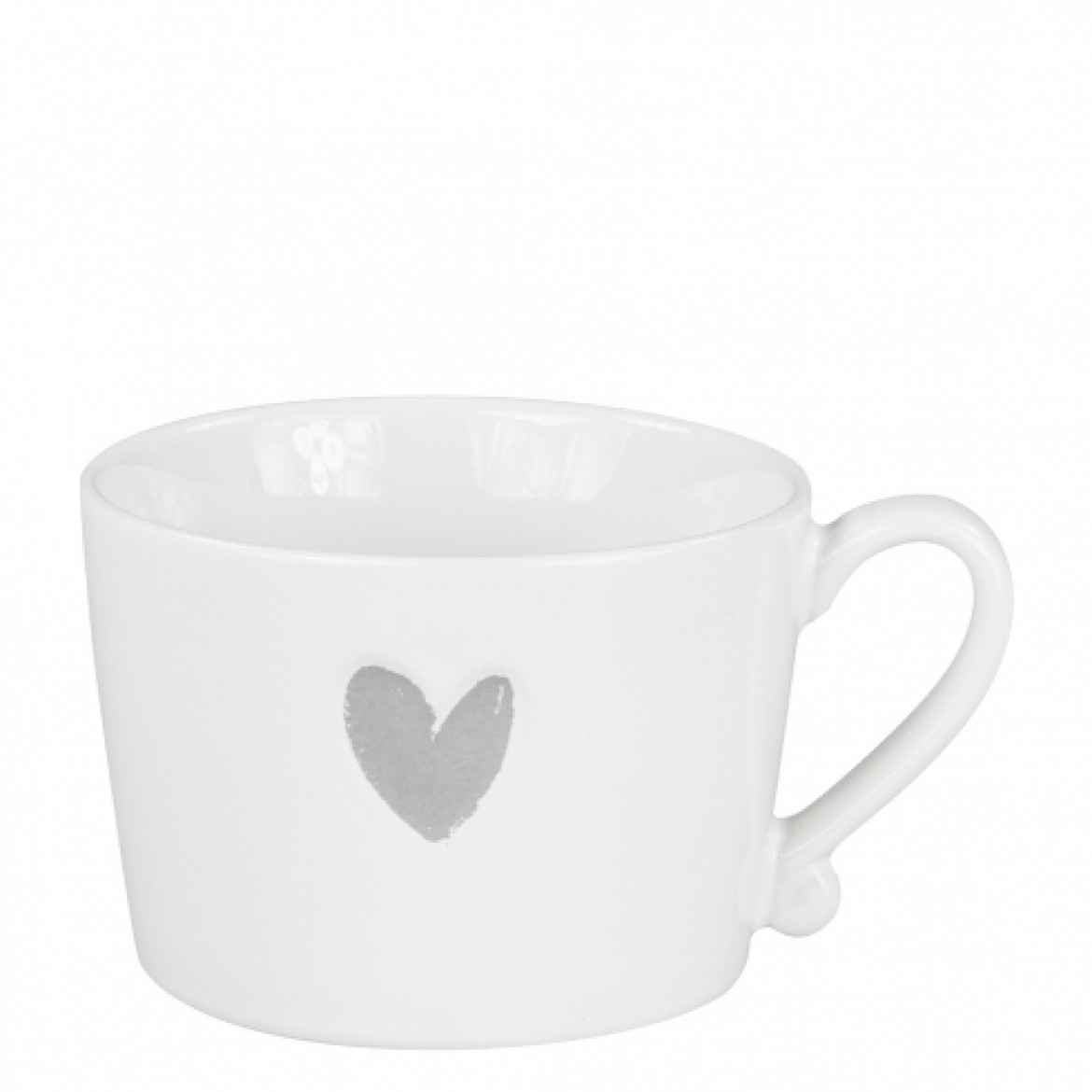 Tasse Groß Bastion Collection Tasse Groß Heart Grey Tassen Teller