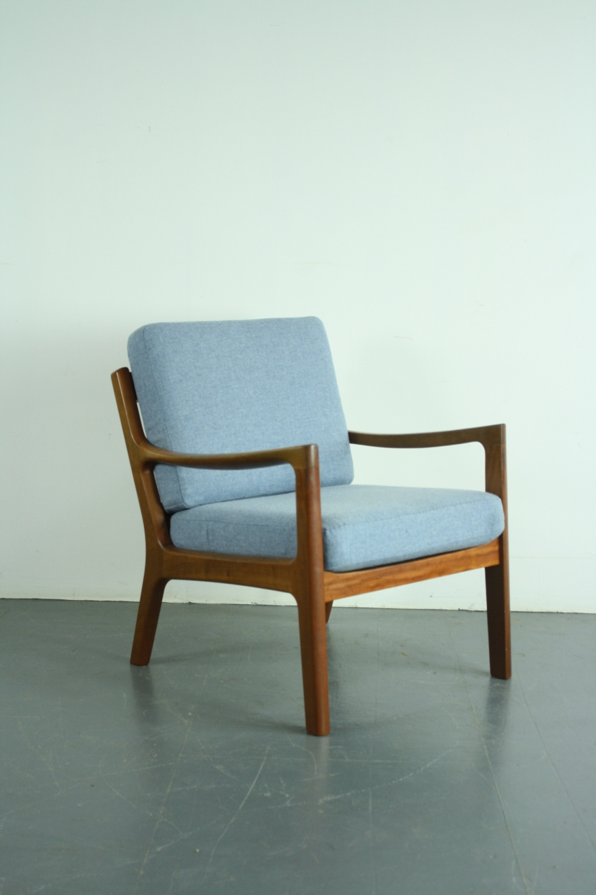 Ole Wanscher Sessel Ole Wanscher 1960s Teak Lounge Chair Made By France Son Denmark With Blue Abraham Moon Wool Upholstery Lovely And Company