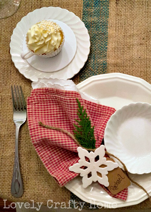 lodge inspired table setting