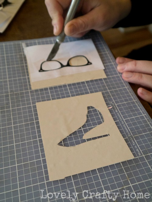 cutting out stencils