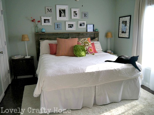 spring bedroom with hgtv fabric
