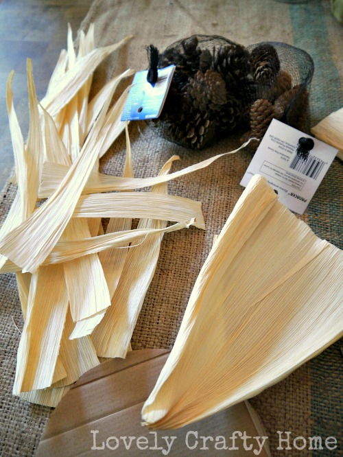 corn husk sunflower petals