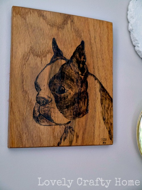boxer wood burning