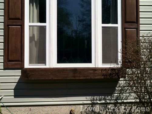 stained diy window box