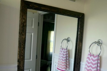DIY Removable Wood Mirror Frame