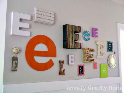 Gallery Wall Of Letters