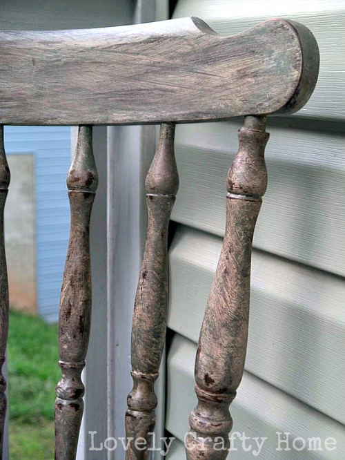 Antiqued chair makeover