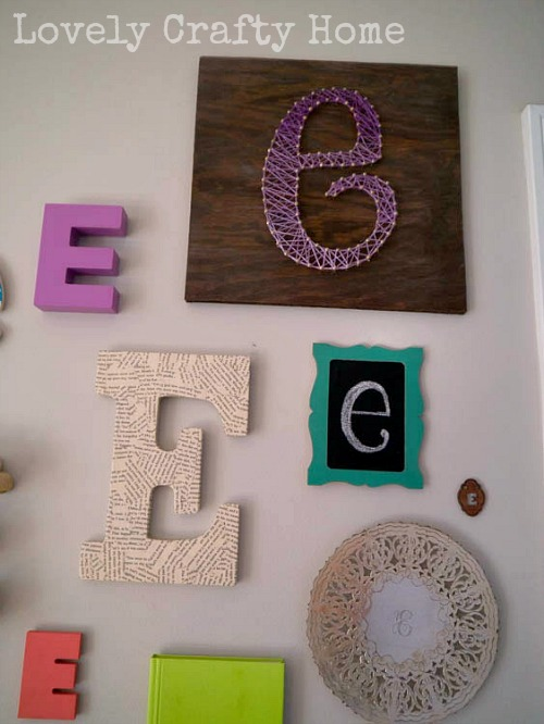 DIY String Art Letter