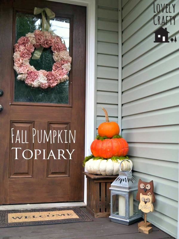 Fall Pumpkin Topiary Porch Decor