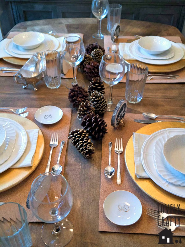 Rustic Gold Thanksgiving Tablescape