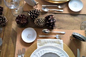 Simple Gilded Tablescape