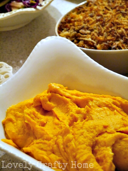 goat cheese mashed sweet potatoes