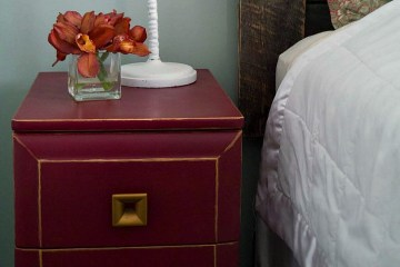 Nightstand Makeover with Gold Accents