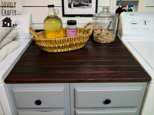 Wood Plank Countertop DIY