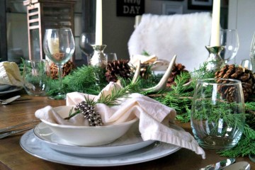 Rustic Cozy Winter Table
