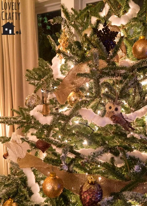 Owl Christmas Tree At Home