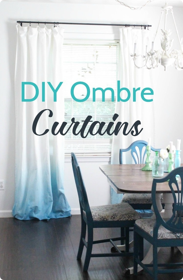 Make Curtains Diy Blue Ombre Curtains Lovely Etc