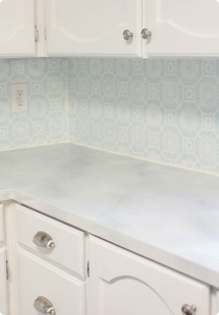 How To Paint Countertops To Look Like Marble Lovely Etc