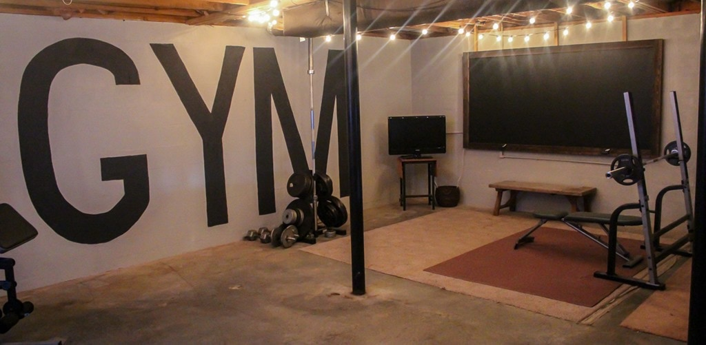 Unfinished Basement Ideas On A Budget Unfinished Basement To Industrial Home Gym On A $100