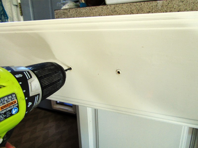 Lovely Imperfection - Installing Cabinet Hardware Drill the Holes - drill template