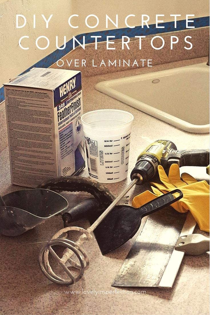 Concrete Countertops Book Lovely Imperfection Diy Concrete Countertops Over Laminate