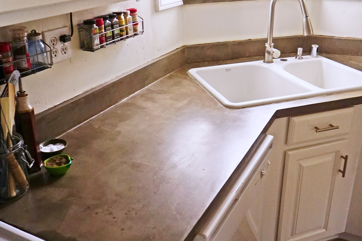 Finished Concrete Countertops Lovely Imperfection Feather Finish Concrete Countertops