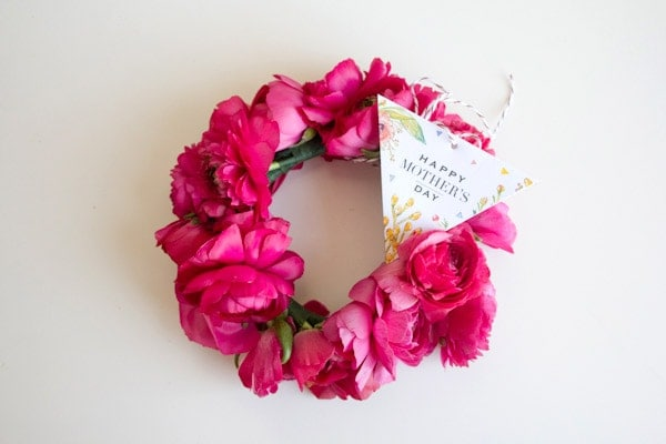 Diy Floral Bangle Bracelets Mother39s Day Gift Tag