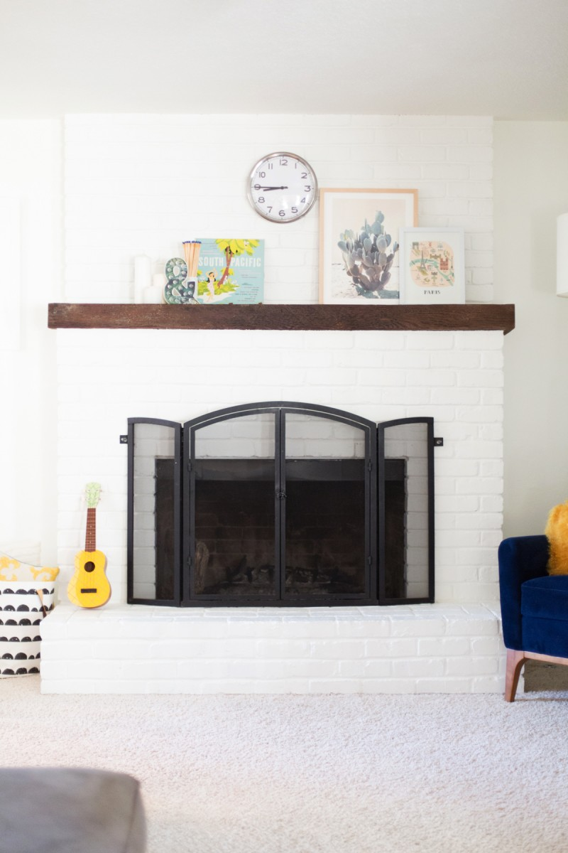 Painting An Old Fireplace How To Paint A Brick Fireplace White