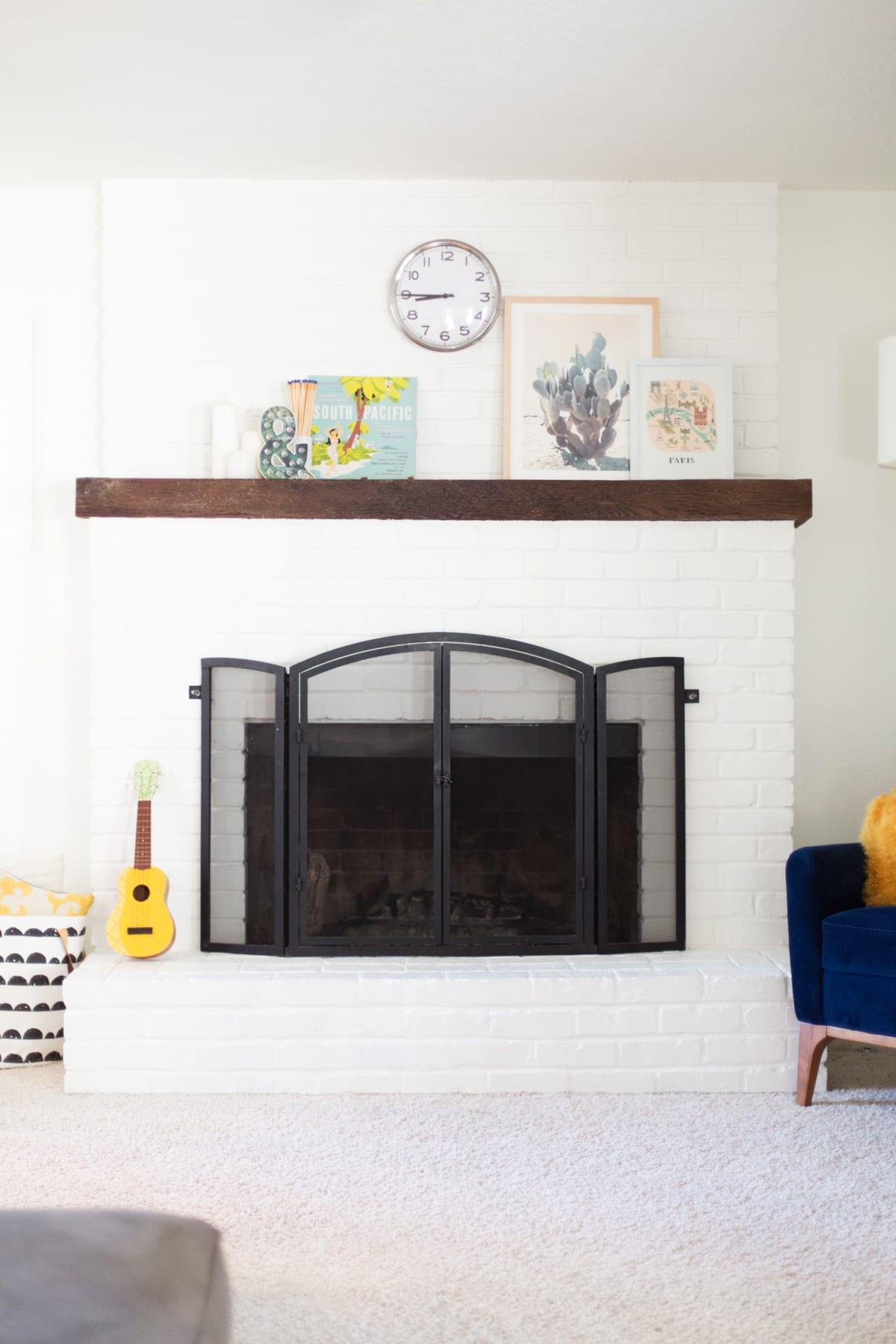 Painting Over Fireplace How To Paint A Brick Fireplace White