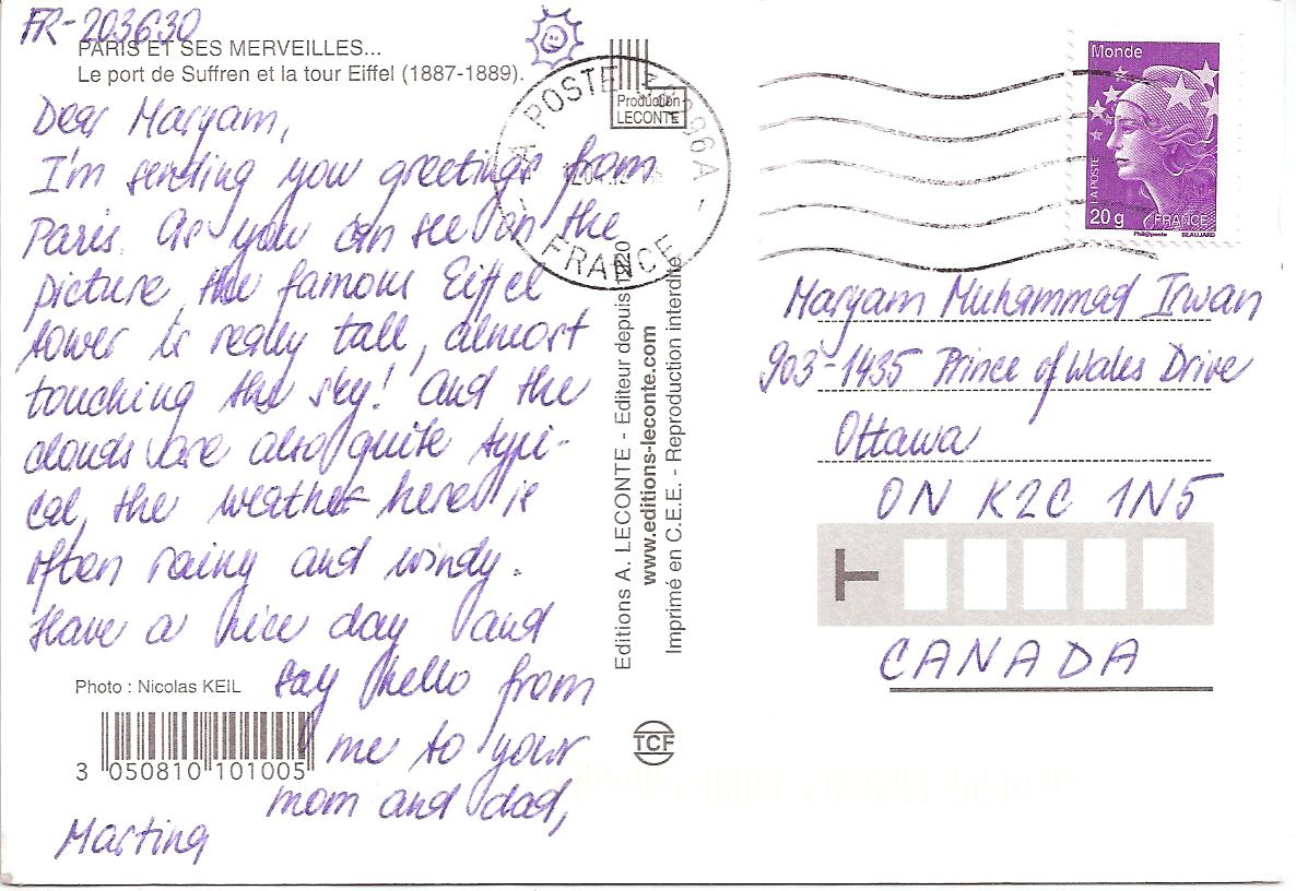 Smothery Thank Postcard From France Letters Postcards Maryam How To Fill Out A Postcard Correctly Owhow 4793735 Fill Out Postcardml inspiration How To Fill Out A Postcard