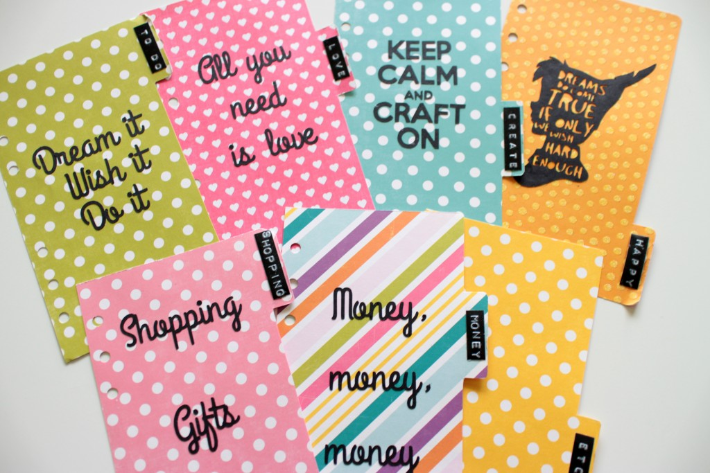 How to make planner dividers for your Filofax or Kikki K (+ free
