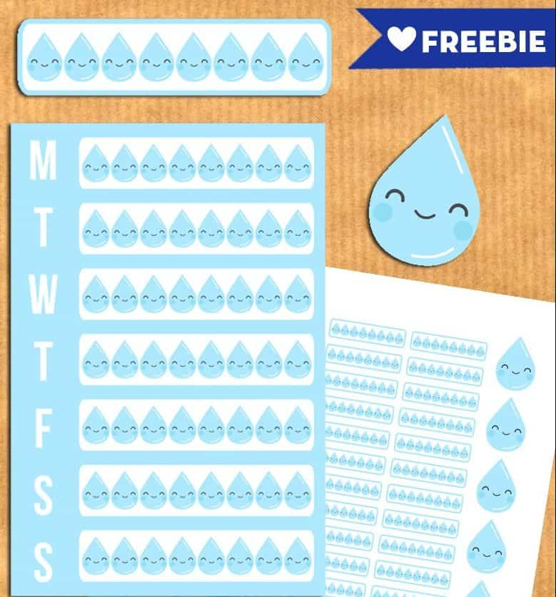 11 Free Printable Health and Fitness Planner Stickers and Inserts to